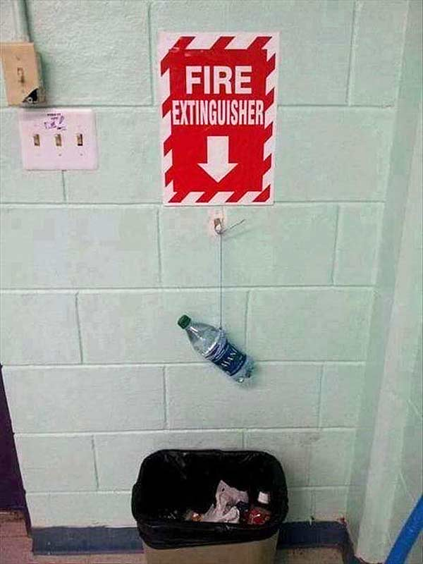 Call the fire department.
