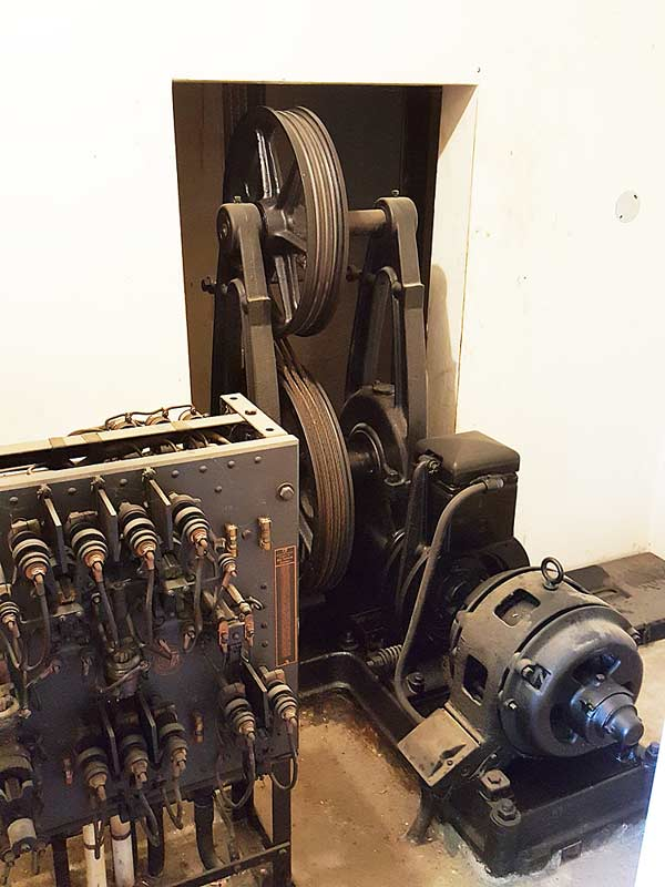 Early 1900s elevator equipment.